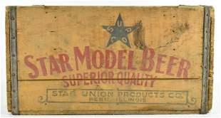 Vintage Star Model Beer Advertising Wood Crate
