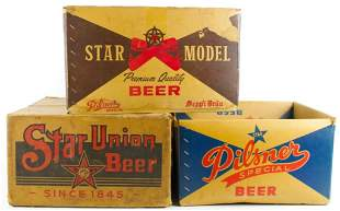 Group of 3 Star Union Brewing Co. Adverting Cardboard