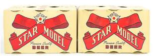Group of 2 Star Model Beer Advertising Six Packs with