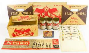Group of Vintage Star Model Beer Advertising Items