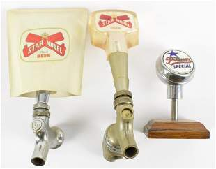 Group of 3 Vintage Star Model Beer Advertising Tappers