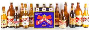 Group of 18 Star Union Brewing Advertising Beer Bottles