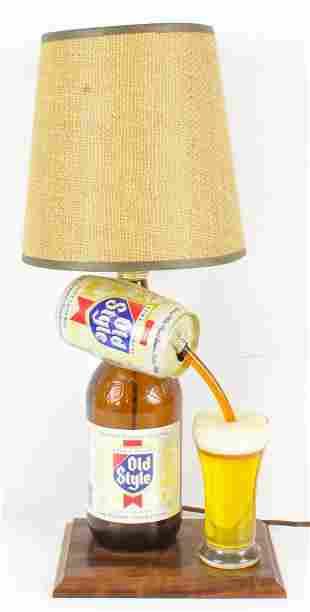 Vintage Old Style Light Up Advertising Bottle Lamp