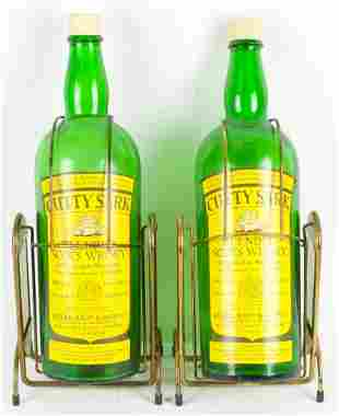 Group of 2 Vintage Cutty Sark Oversized Bottles with