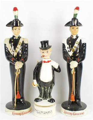 Group of 3 Vintage Figural Decanters