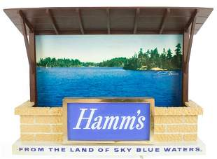 Vintage Hamms Beer Light Up Advertising Beer Sign