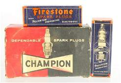 Group of Vintage NOS Spark Plugs