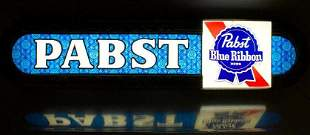 Vintage Pabst Blue Ribbon Light Up Advertising Beer