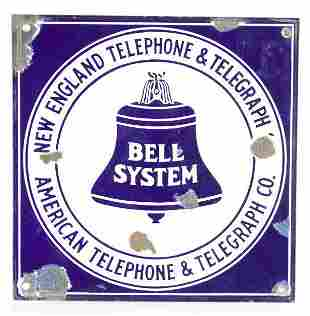 Vintage Bell System Advertising Porcelain Sign