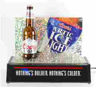 Coors Light Light Up Advertising Beer Display with