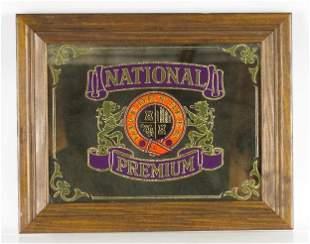 Vintage National Premium Advertising Beer Mirror