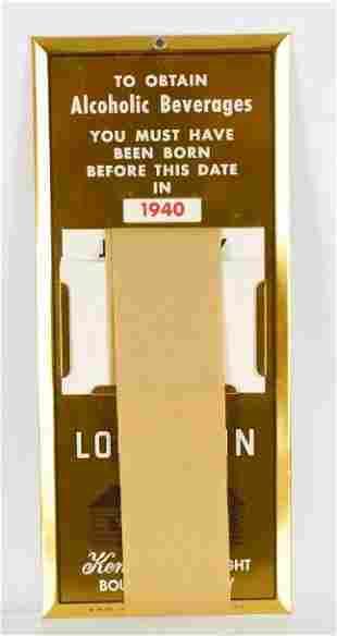 Vintage Old Log Cabin New Old Stock Advertising
