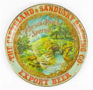 Pre Pro Crystal Rock Spring Beer Advertising Metal Beer