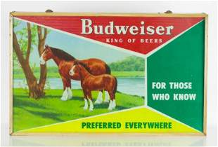 Vintage Budweiser Light Up Advertising Clydesdale Horse