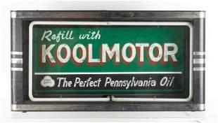 Vintage Koolmotor Oil Light Up Advertising Petroliana