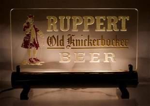 Vintage Ruppert Old Knickerbocker Light Up Sign