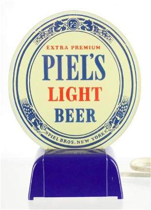 Vintage Piel's Light Beer Light Up Advertising Sign
