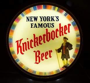 Vintage Knickerbocker Beer Light Up Motion Sign