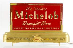 Vintage Michelob Beer Light Up Advertising Cash