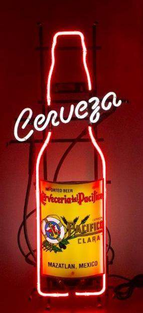 Cerveceria Del Pacifico Light Up Advertising Neon Beer