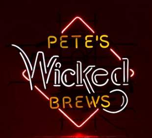 Petes Wicked Brews Light Up Advertising Neon Beer Sign