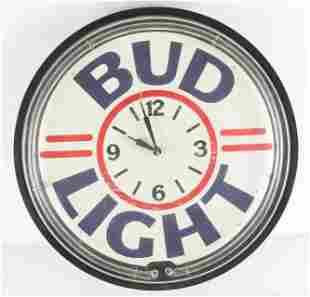 Bud Light Light Up Advertising Neon Beer Clock