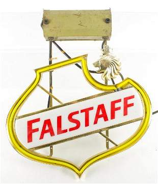 Vintage Falstaff Light Up Advertising Neon Beer Sign