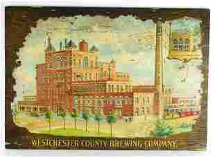 Antique Westchester County Brewing Co. Factory Sign
