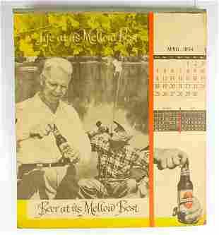 Vintage 1954/55 Sterling Beer Advertising Calendar
