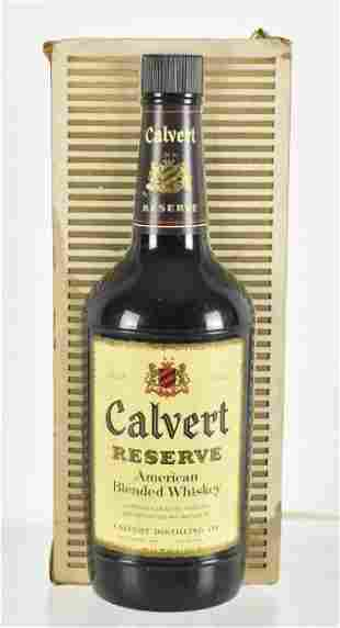 Vintage Calvert Reserve Whiskey Light Up Advertising