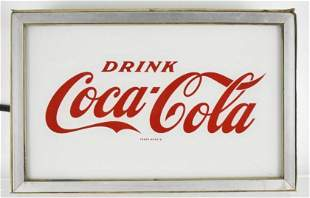 Vintage Coca Cola Light Up Advertising Reverse Painted