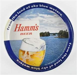 Vintage Hamms Beer Advertising Metal Beer Tray