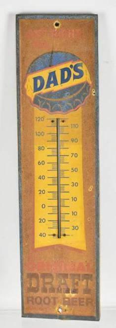 Vintage Dads Root Beer Advertising Metal Thermometer