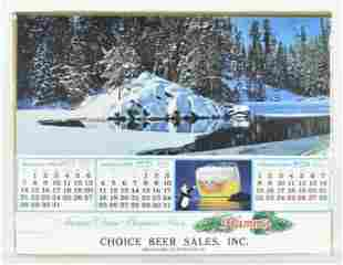 Vintage 1981 Hamms Advertising Calendar