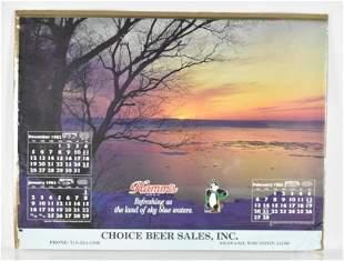 Vintage 1983 Hamms Advertising Calendar