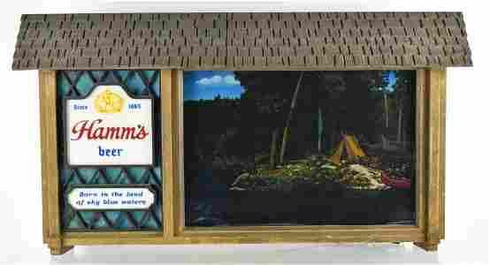 Vintage Hamms Scene-A-Rama Light Up Advertising Motion