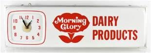 Vintage Morning Glory Dairy Light Up Advertising Clock