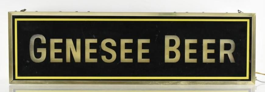 Vintage Genesee Beer Light Up Advertising Double Sided