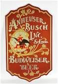 Embossed Anheiser Busch Budweiser Advertising Beer Sign