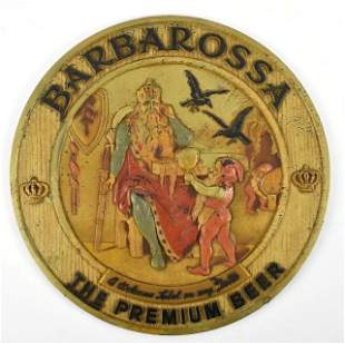 Vintage Barbarossa Advertising Composition Plaque