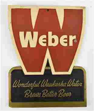 Vintage Weber Advertising Composition Beer Sign