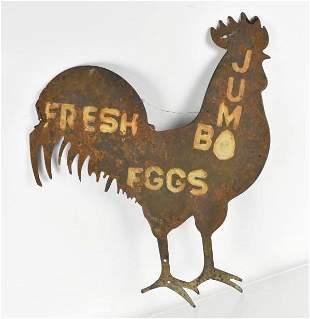 Fresh Jumbo Eggs Farm Sign