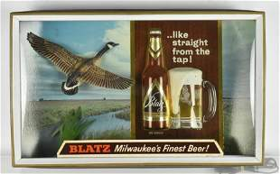 Vintage Blatz Beer Light Up Advertising Beer Sign