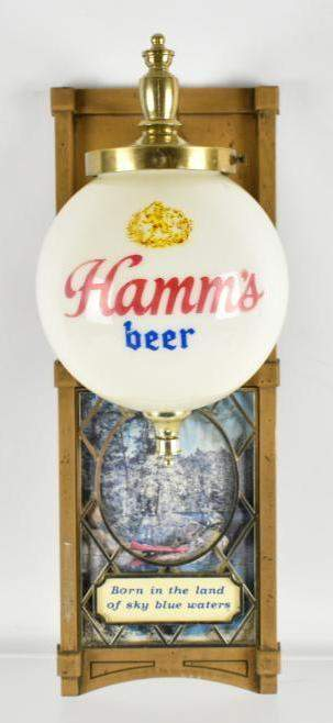 Vintage Hamms Beer Light Up Advertising Wall Sconce