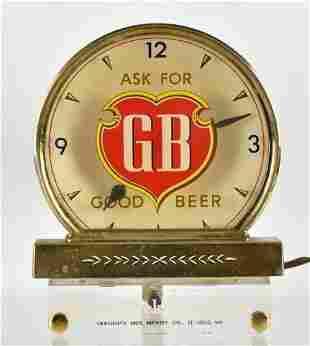 Vintage Griesedieck Bros Beer Light Up Advertising Cash