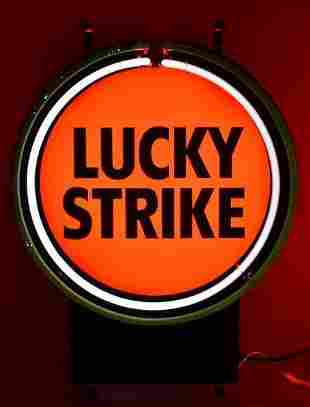Lucky Strike Cigarettes Light Up Advertising Neon Sign