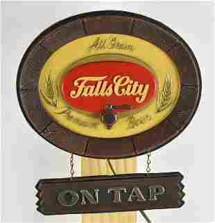 Vintage Falls City Beer Light Up Advertising Sign