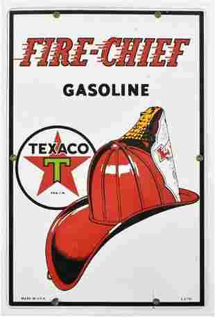 Texaco Fire Chief Gasoline Advertising Porcelain Pump