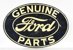 Vintage Ford Genuine Parts Double Sided Advertising