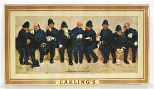 Vintage Carlings Nine Pints of the Law Advertising Beer